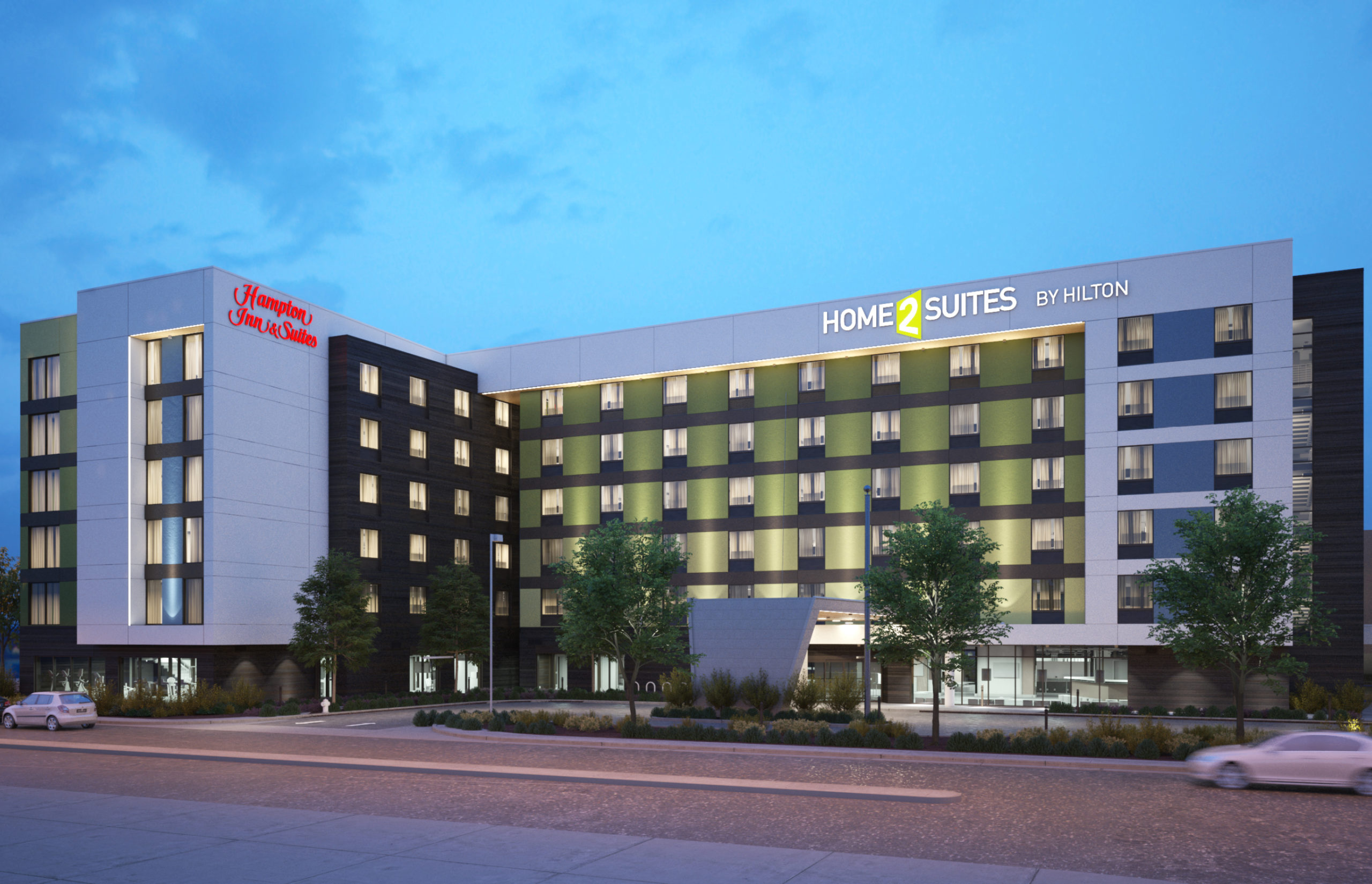 Donohoe Hospitality Services Opens the Dual Branded Newly Built Hampton Inn & Suites/Home2 Suites by Hilton Las Vegas, NV Thumbnail